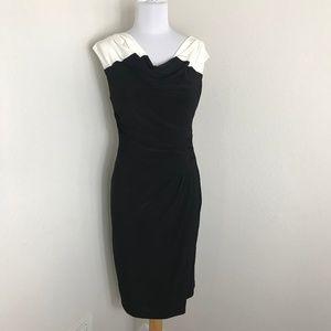 Classic Lauren Ralph Lauren black and white dress